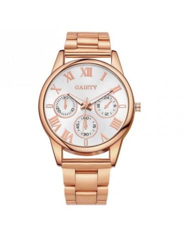 GAIETY G105 Fashion Luxury Stainless Steel Gold Luxury Women Watch