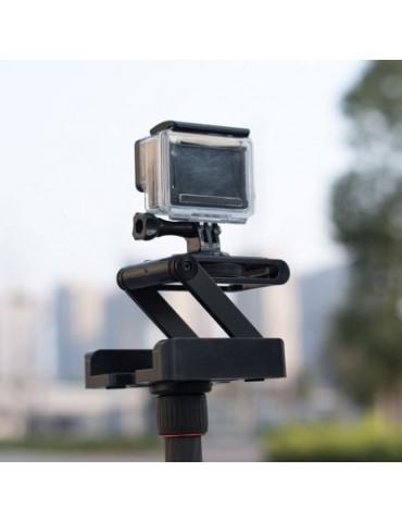 Folding Z Shape Camera Desktop Stand Holder Plate Gopro Tripod