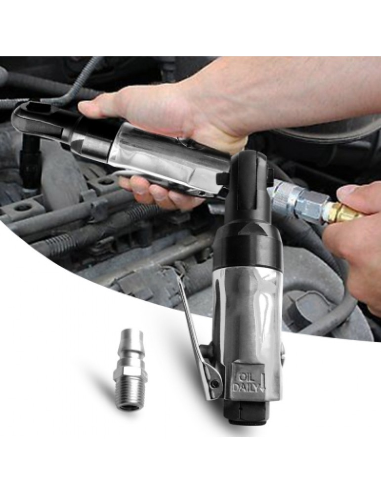 1/4 inch Square Drive Straight Shank Tire Air Ratchet Wrench